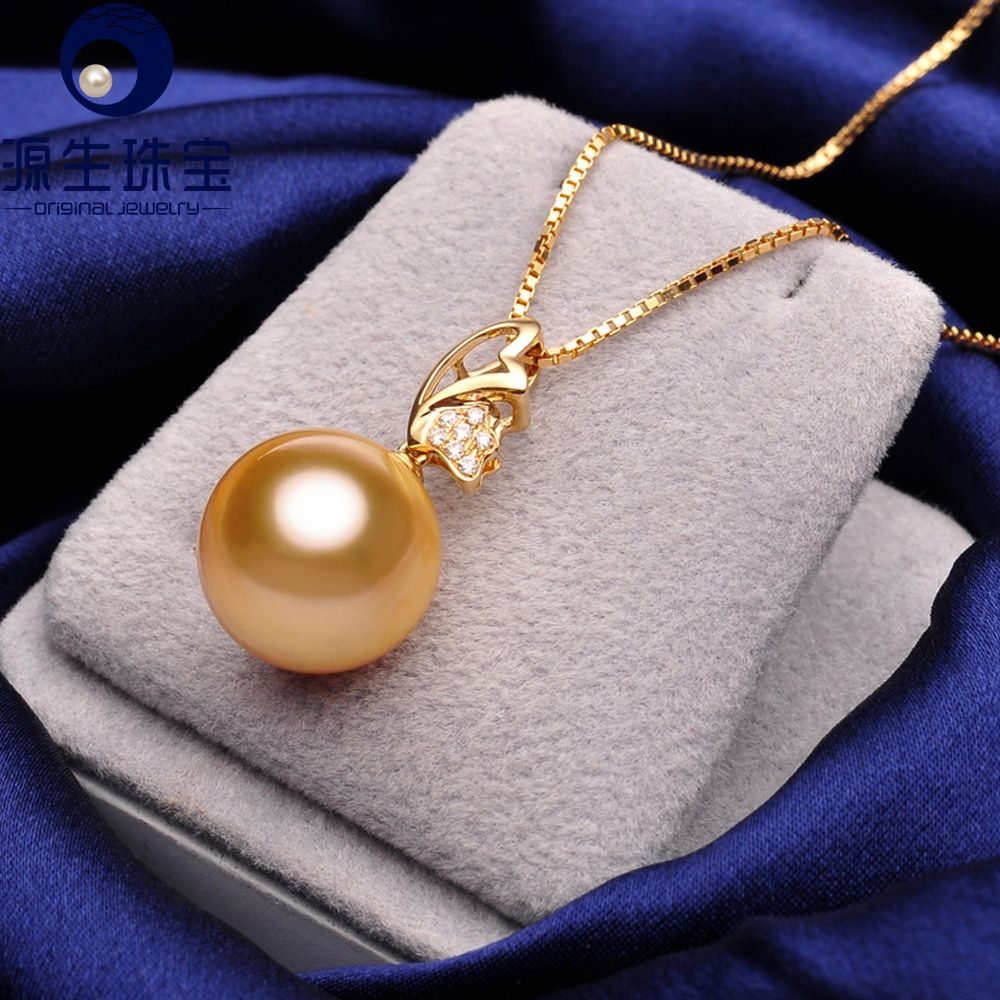 Aliexpress buy golden south sea pearl pendant perfect round 11 cheap diamond accent buy quality diamond accent jewelry directly from china pearl diamond pendant suppliers pearl jewelry golden south sea pearl pendant aloadofball Choice Image