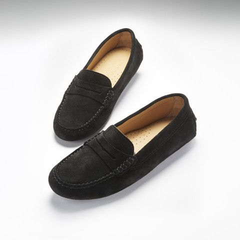 Black · Women's Penny Driving Loafers ...