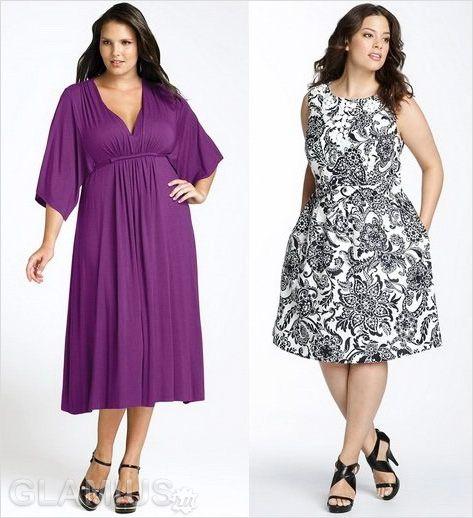 Платья летние короткие для полных девушек