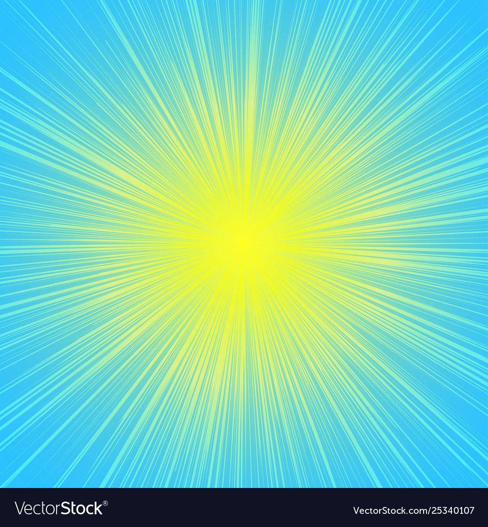 sun burst blast background yellow on blue vector image ad blast background sun burst a vector background pattern vector images dark wood background pinterest