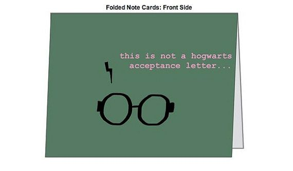 Harry Potter Birthday Card Funny Hogwarts Cards Wrapping