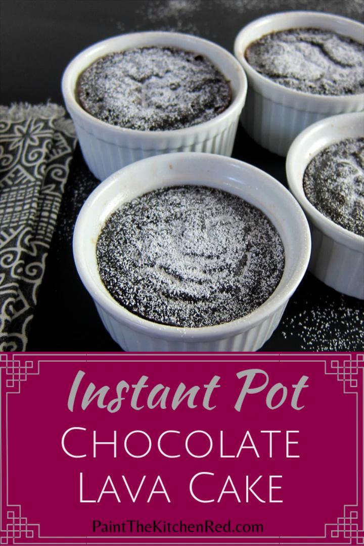 Decadent Molten Instant Pot Chocolate Lava Cake Yum Video Recipe Video Lava Cake Recipes Lava Cakes Chocolate Lava Cake