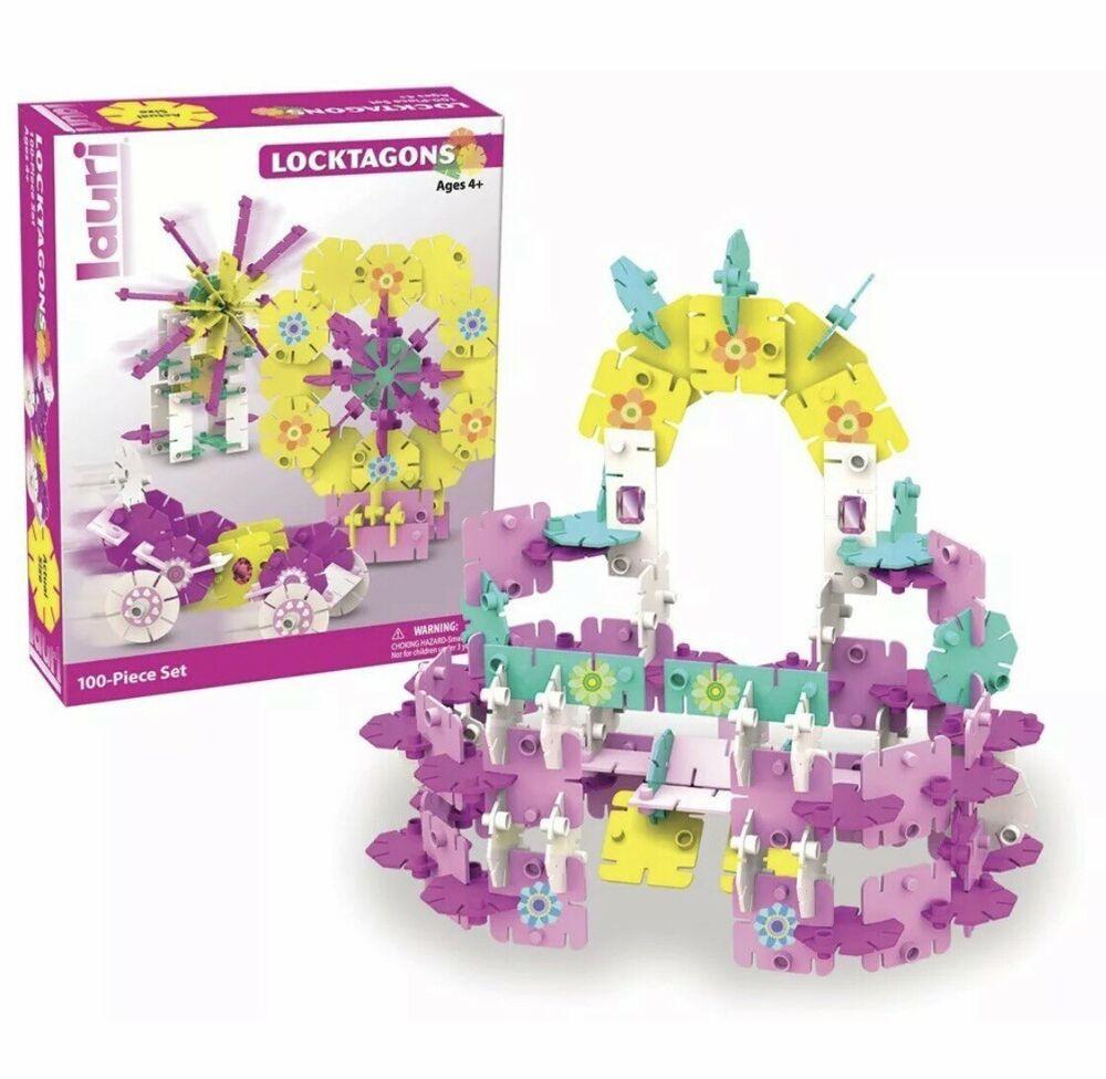 Lauri Girl Set Locktagons 100-Piece Building Educational ...
