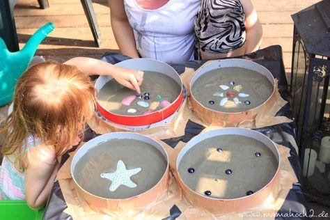 Trittsteine für das Gartenbeet- DIY aus Beton #diygartenprojekte