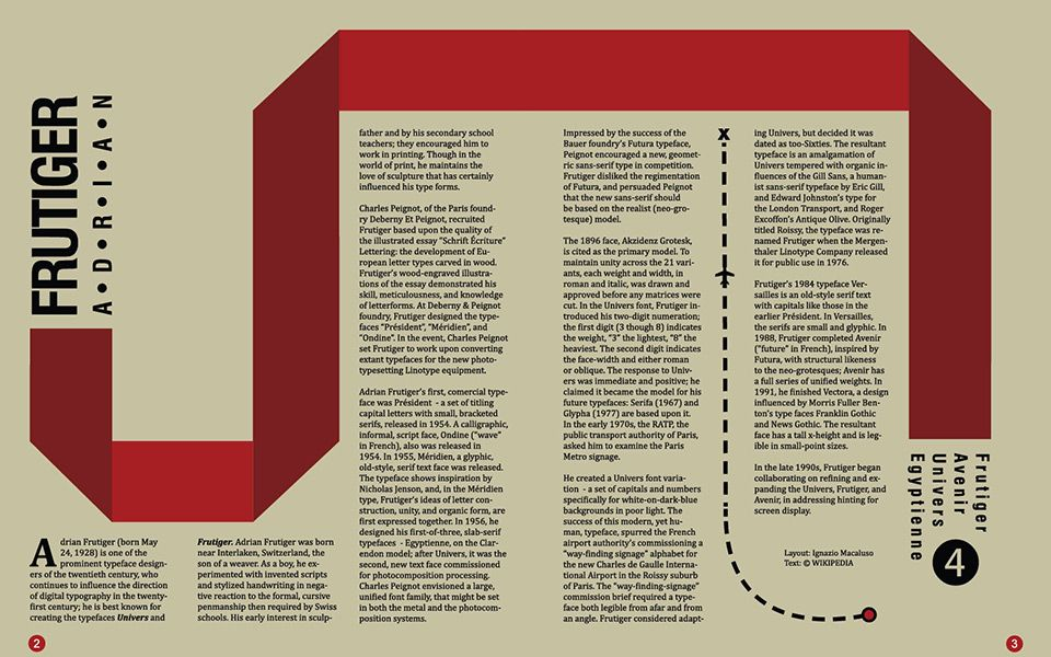 an example of a magazine layout