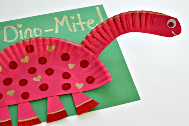 Paper Plate Dinosaurs  Dinosaurs    Valentine Crafts