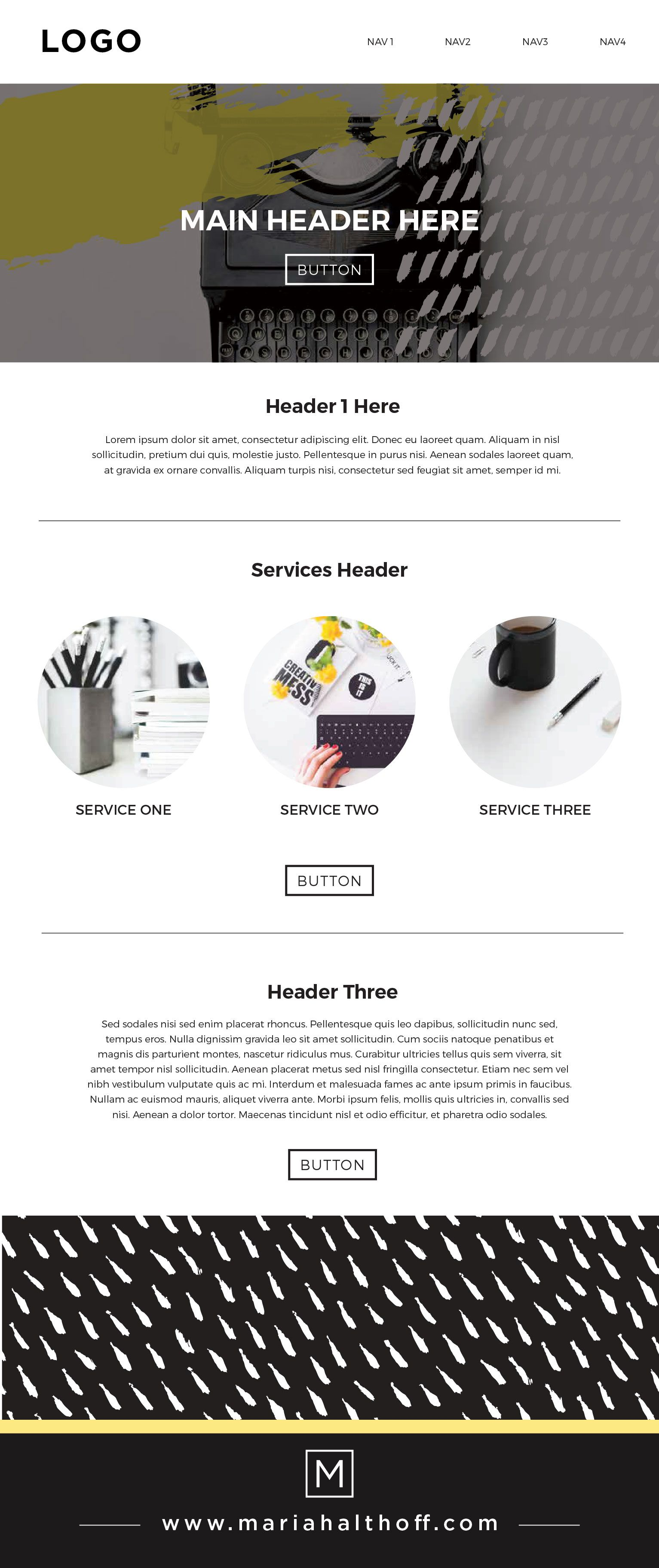 Squarespace Web Design Layout And Branding Bright Black And White Accent Yellow Paint Splatter I Squarespace Web Design Web Design Tips Web Layout Design
