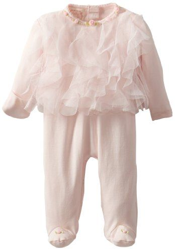 #Biscotti Baby-Girls Newborn Rolling In Ruffles Long Sleeve Footie - Buy New: $66.00: Ruffles, ruffles and more ruffles. We don't think we've seen a footie quite as cute as this pink version in whisper soft cotton knit and trimmed with delicate pearls and rosebuds.