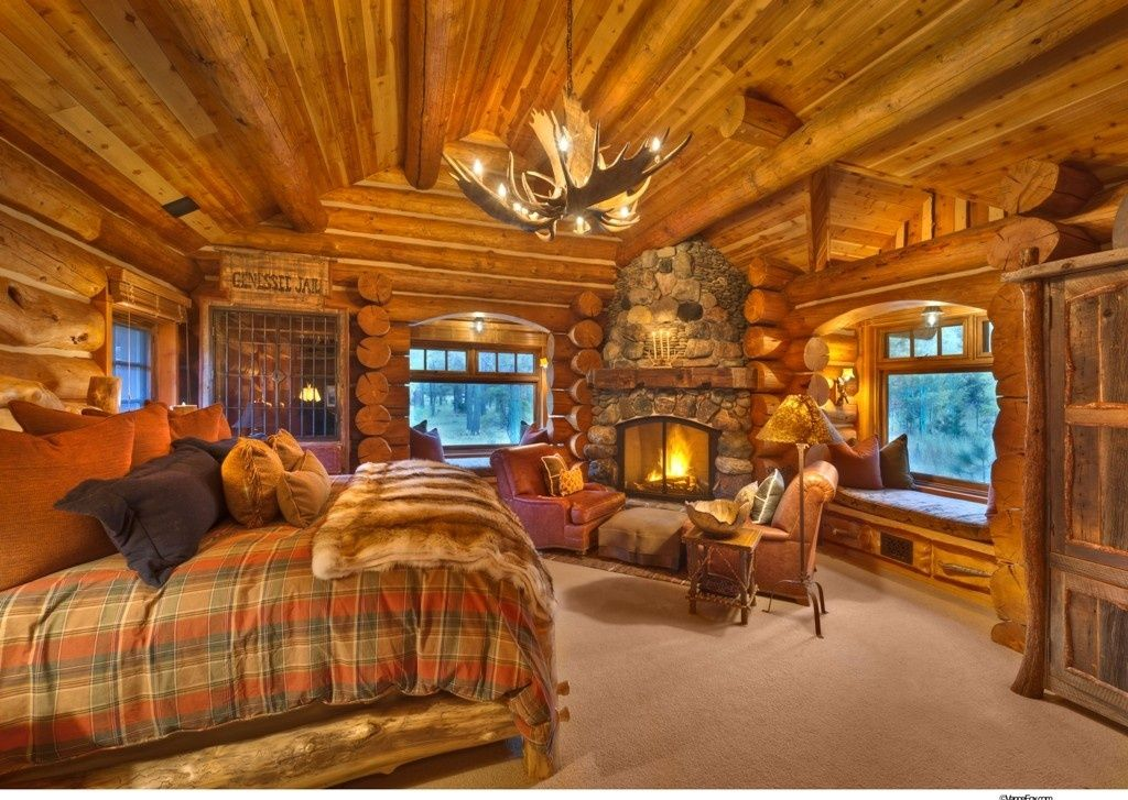 Great Master Bedroom Log Cabin Bedrooms Log Cabin Interior Log Homes