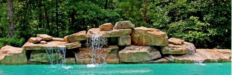 Texas Two Step & Tennessee Ledger Waterfall by Rock 'n Water Creations
