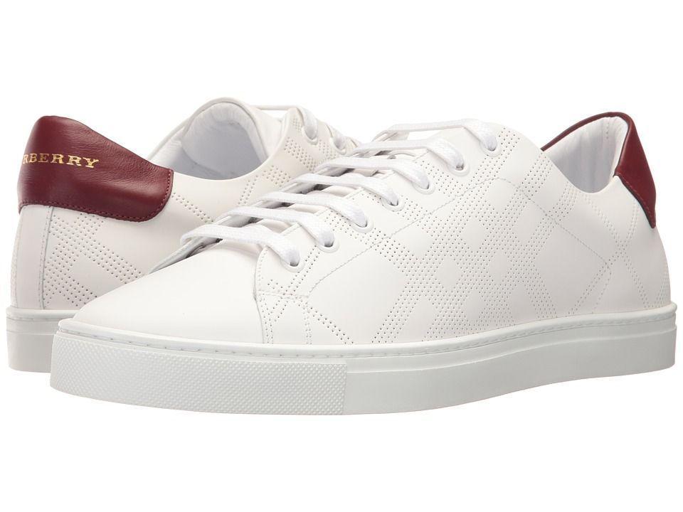 b63ed12a3cd1 Burberry Albert Perforated Sneaker Men s Shoes Optic White