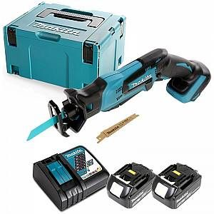 Makita DJR183 18V Mini Reciprocating Saw With 2 x 5.0Ah Batteries, Charger & Case - DJR183-KIT-19