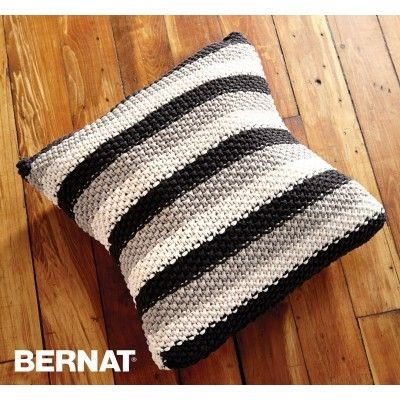 Stepping Stripes Pillow Knit Free Pattern Yarnspirations