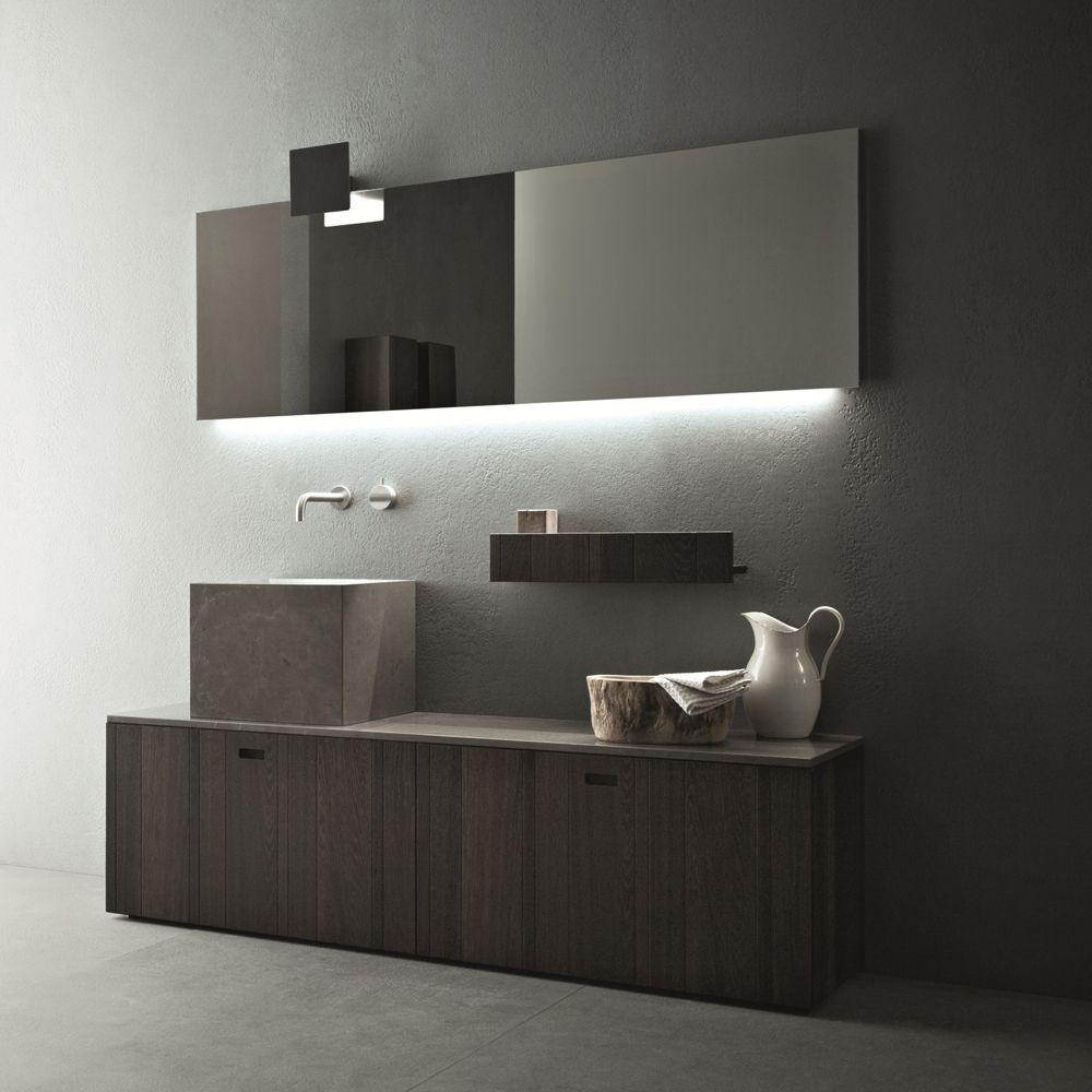 Composizione mobili bagno a terra design moderno Novello Craft ...