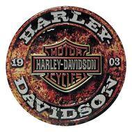 Harley Davidson Stone Rust Sign