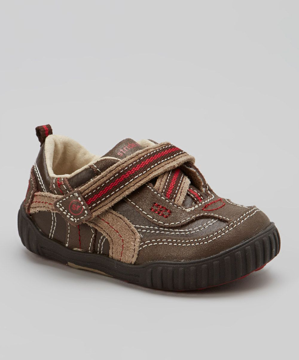 This Brown & Red Calvin Sneaker by Stride Rite is perfect! #zulilyfinds. $21.99