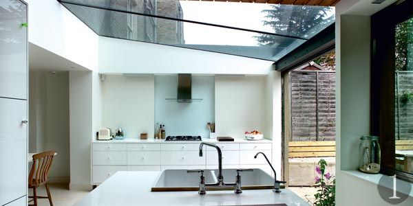 Attractive Glass Roof, Opens Up To Patio