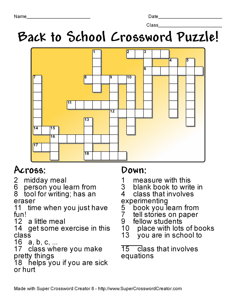 Make Crossword Puzzles with Super Crossword Creator - Super ...