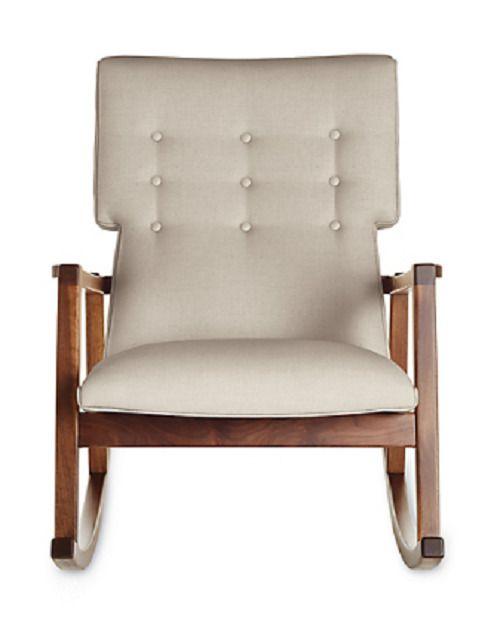 Strange Details About Authentic Jens Risom Risom Rocker Chair Linen Machost Co Dining Chair Design Ideas Machostcouk