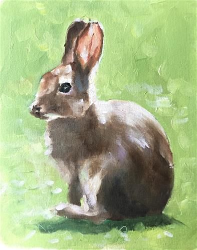 Daily Paintworks Rabbit Original Fine Art For Sale C James