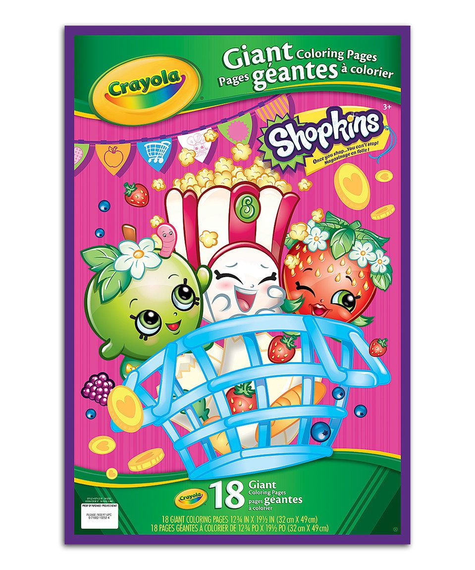 This Shopkins Giant Coloring Pages by Shopkins™ is perfect ...