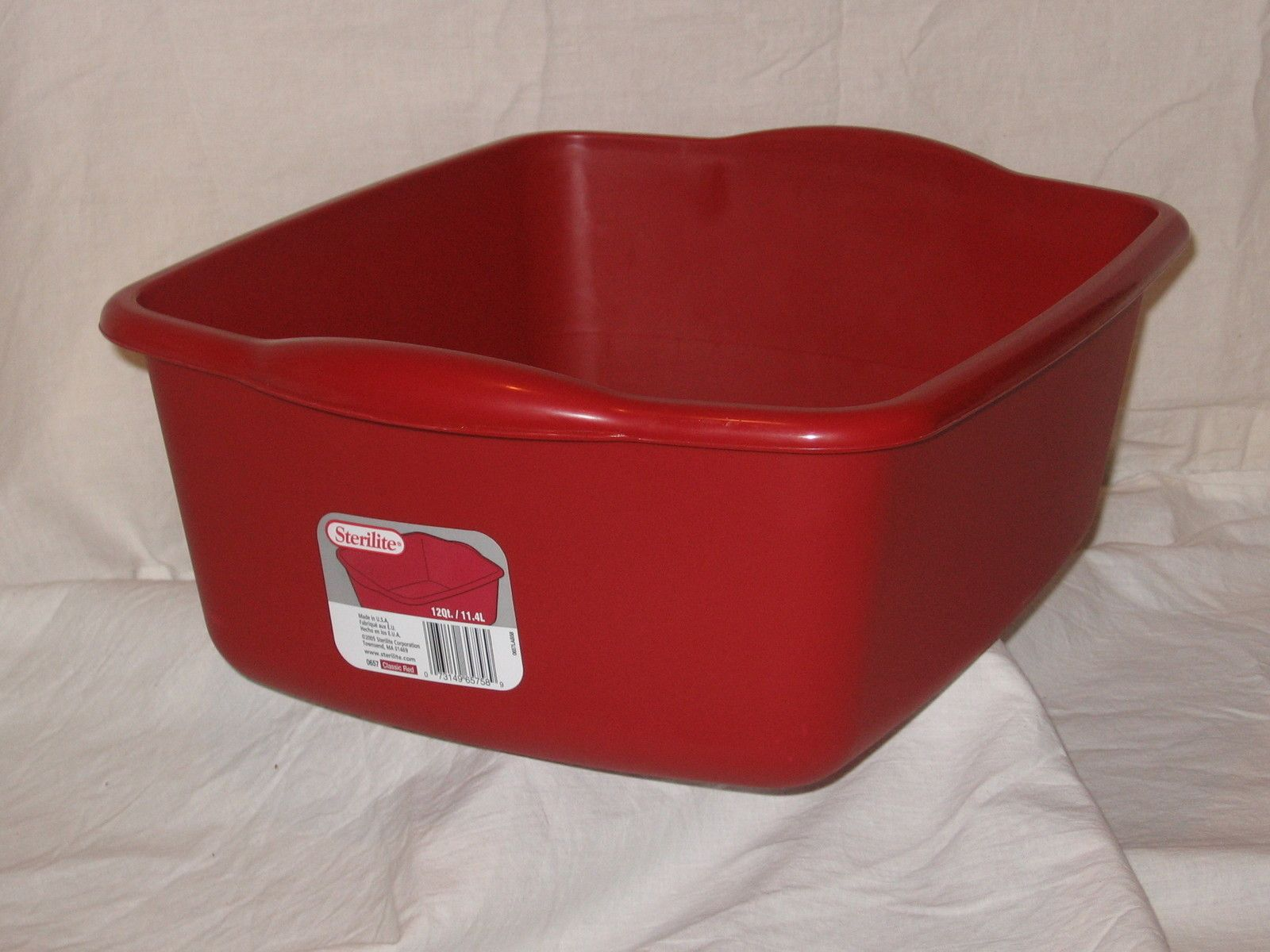 Irregular Red Kitchen Sterilite 12 Qt Plastic Sink Dish Pan Wash