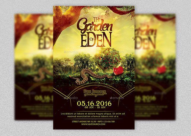 Garden Of Eden Church Flyer Inspiks Market Flyer Print Templates Garden Of Eden
