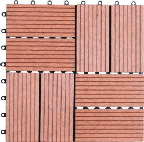 Naturesort N4 Ot01 Bamboo Composite Deck Tile 11 Piece Pack
