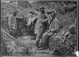 A barber in the trenches