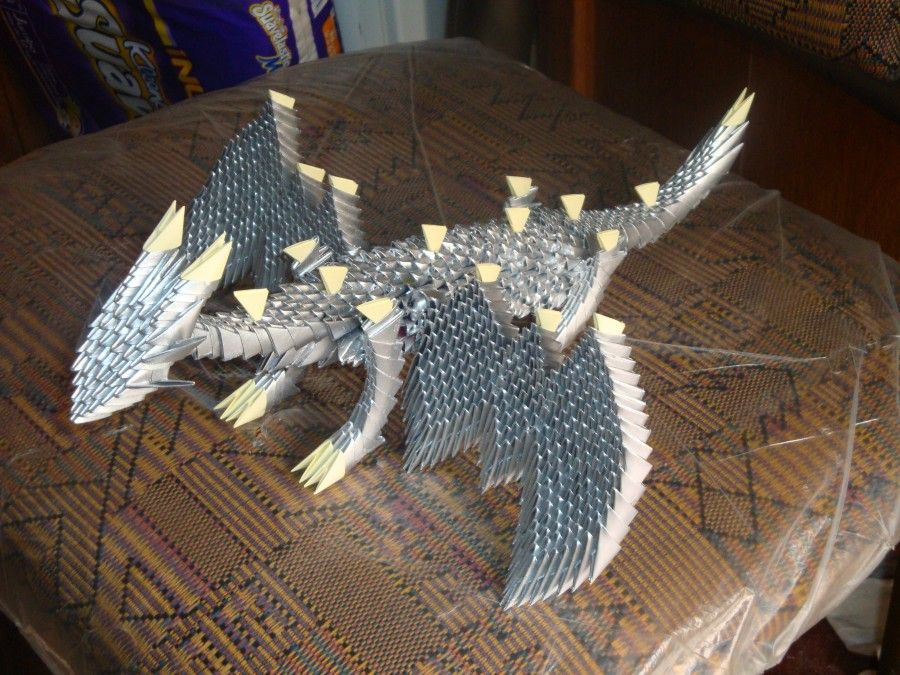 how to make dragon origami 3d