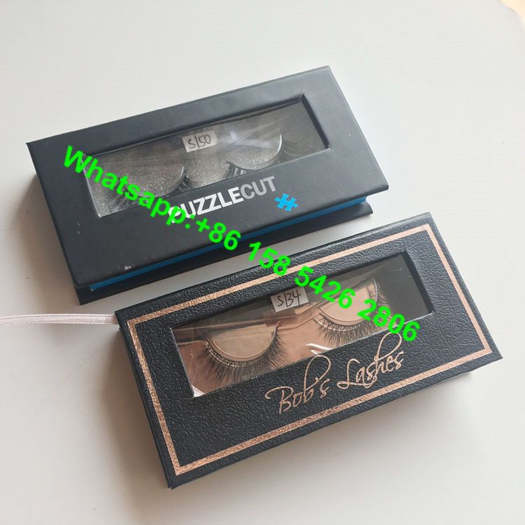 caecd5bdb53 Wholesale Custom Magnetic Closure Private Lable Eyelash Box Packaging with  Clear Window eyelash packaging box,