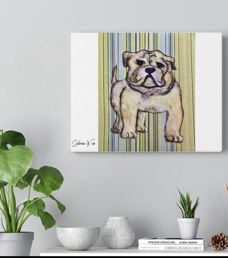 #bulldog #gifts #art #printsforsale