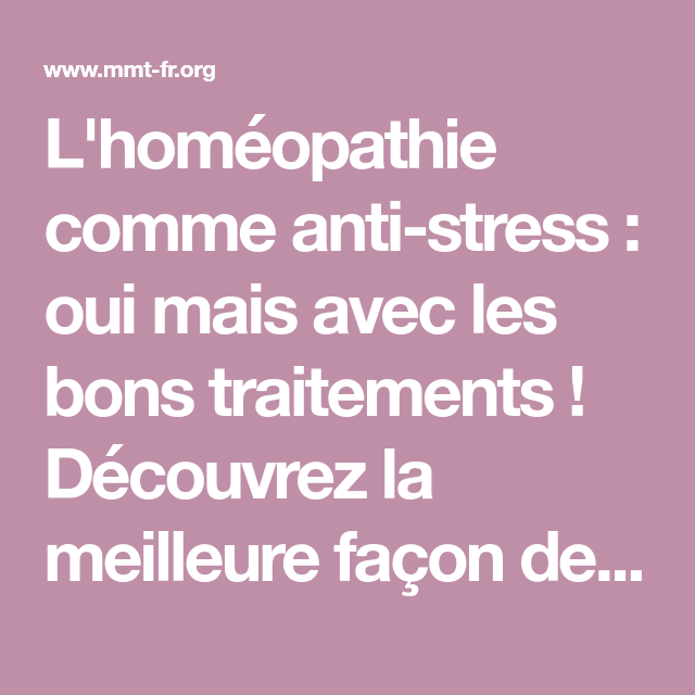 Epingle Sur Homeopathie