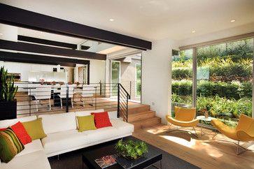 Step Down w/ Railing | Sunken living room, Open living ...