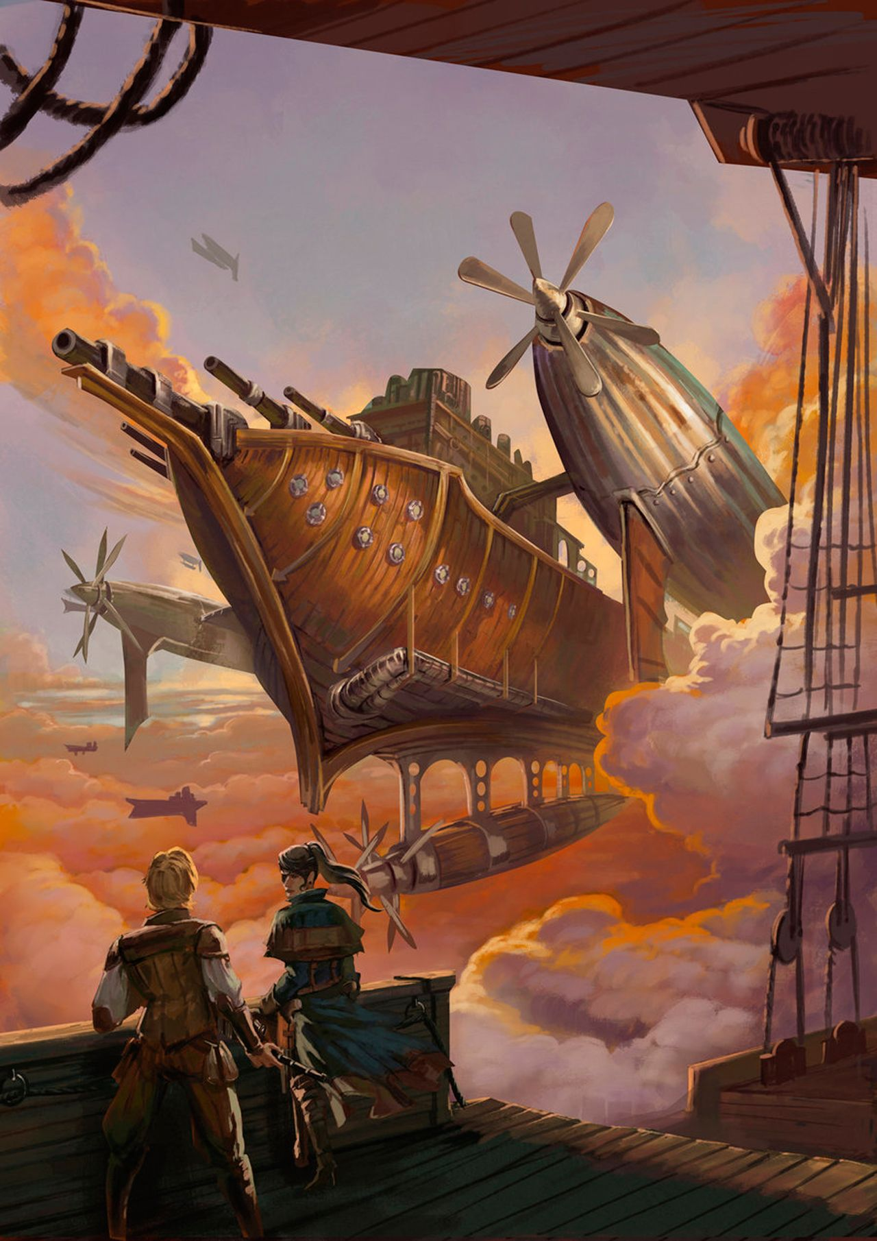The Art Of Animation, Enggar Ajar Adirasa ~An airship! Reminds me of Tarin and Elden.  I just realized I don't have any blonde characters...