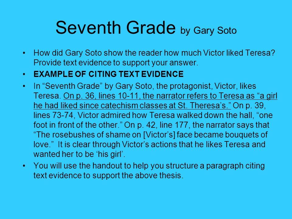 7th Grade By Gary Soto Questions And Answers Worksheets For Kids ...
