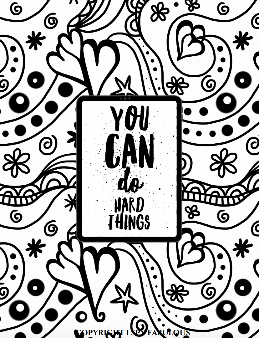 5 Empowering Coloring Pages for Teens Free Printable in