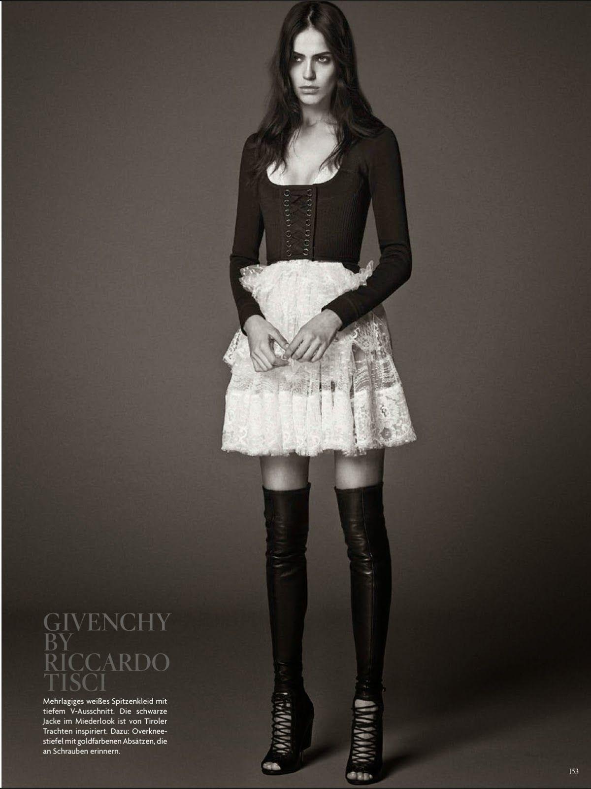 Vogue Alemanha Janeiro 2015 | Andreea, Hilary, Karmen e Amanda por Giampaolo Sgura [Givenchy Lookl]