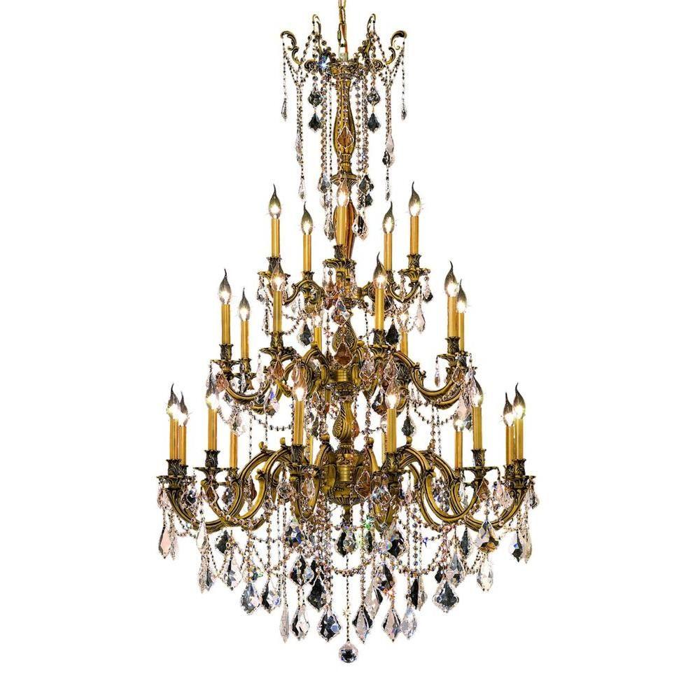 Elegant lighting 25 light french gold chandelier with clear crystal elegant lighting 25 light french gold chandelier with clear crystal arubaitofo Gallery