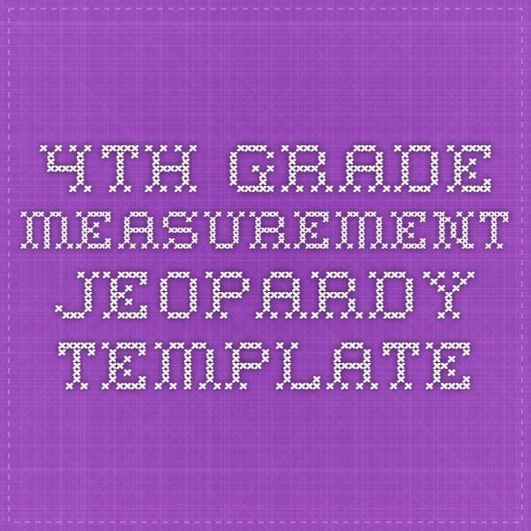 Math Jeopardy 4th Grade