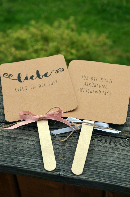 Anleitung DIY Fächer für die Hochzeit oder Gartenparty – DIY Hochzeit