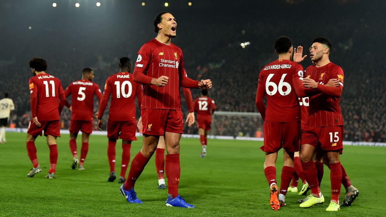 Van Dijk 9 10 Alexander Arnold 8 10 As Liverpool Top United In 2020 Liverpool Premier League Manchester United Premier League