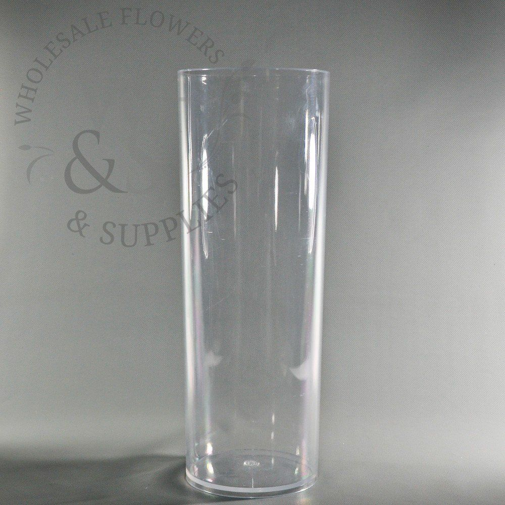 plastic cylinder vase clear 6 x 16 5 quot decor ideas rh pinterest com cheap tall plastic vases for centerpieces inexpensive plastic vases for centerpieces