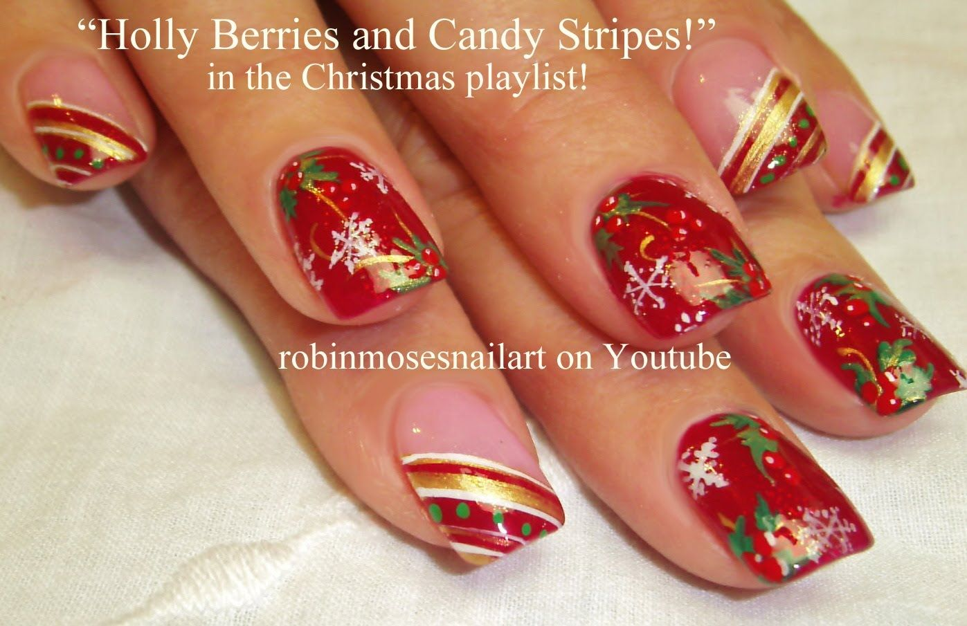 10 nail art tutorials diy easy christmas nail art designs holly 10 nail art tutorials diy easy christmas nail art designs holly ca solutioingenieria Images