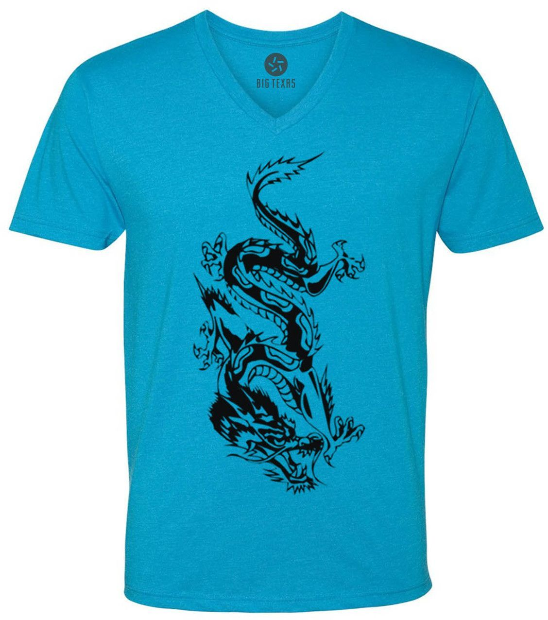 Chinese Dragon (Black) Short-Sleeve V-Neck T-Shirt