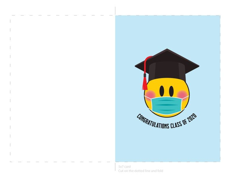 Congratulations Class Of 2020 Mask Emoji Graduation Card Etsy In 2020 Congratulations Graduate Graduation Graduation Cards