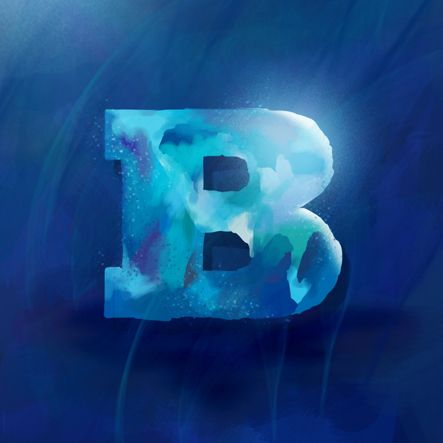 blue in digital paint by Mish.