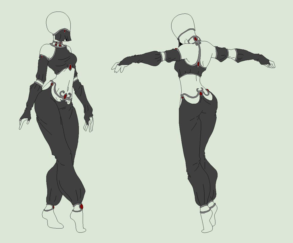 Anime Character Design Tropes : Outfit adopt the black seductress nyp sold by