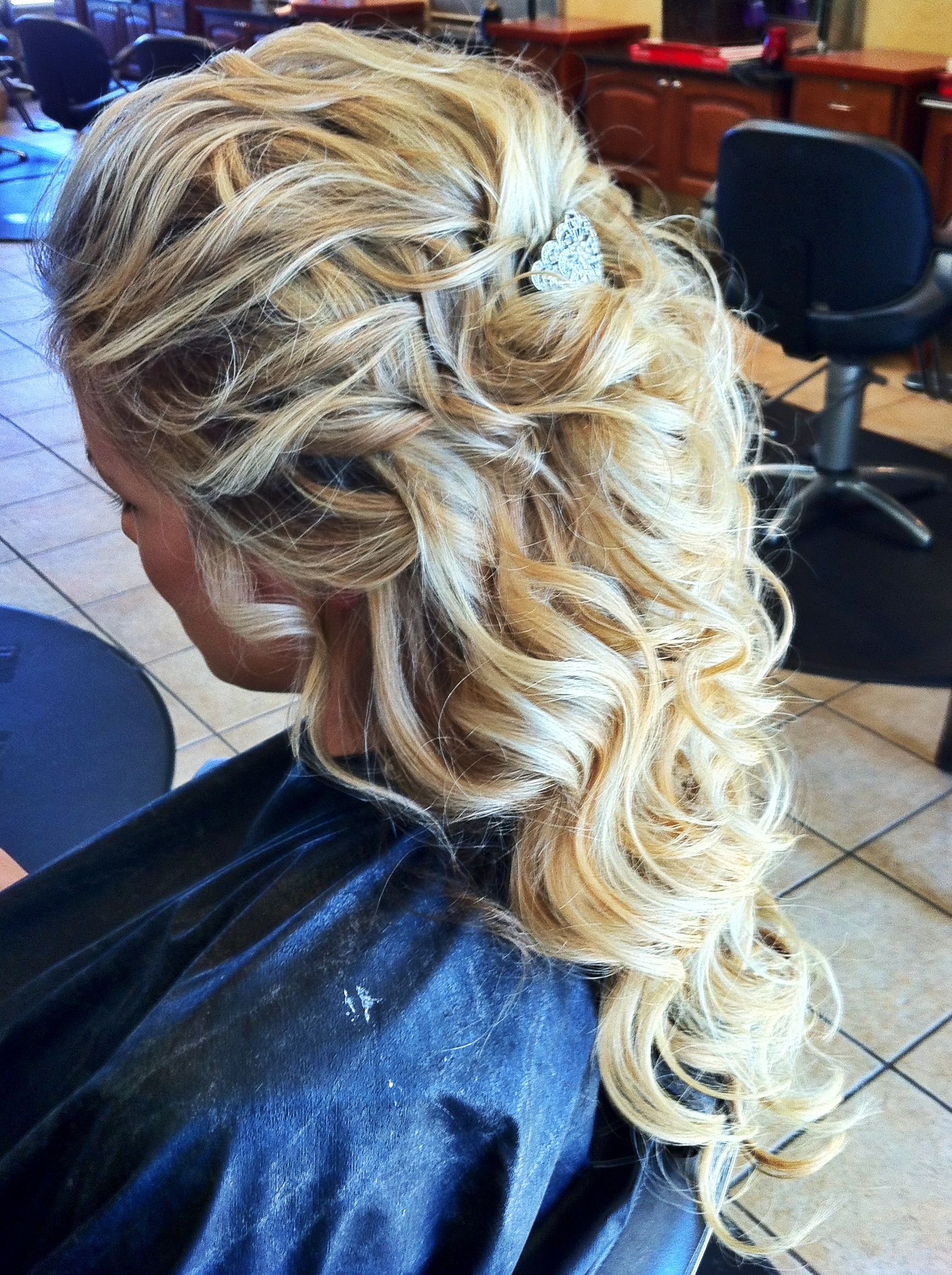 Hair and makeup by steph snow prom and hair style