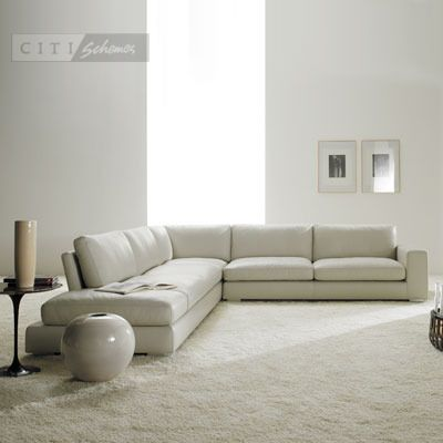 City Schemes Mistral Leather Corner Sofa Modern Sofa Sectional Sectional Sofa